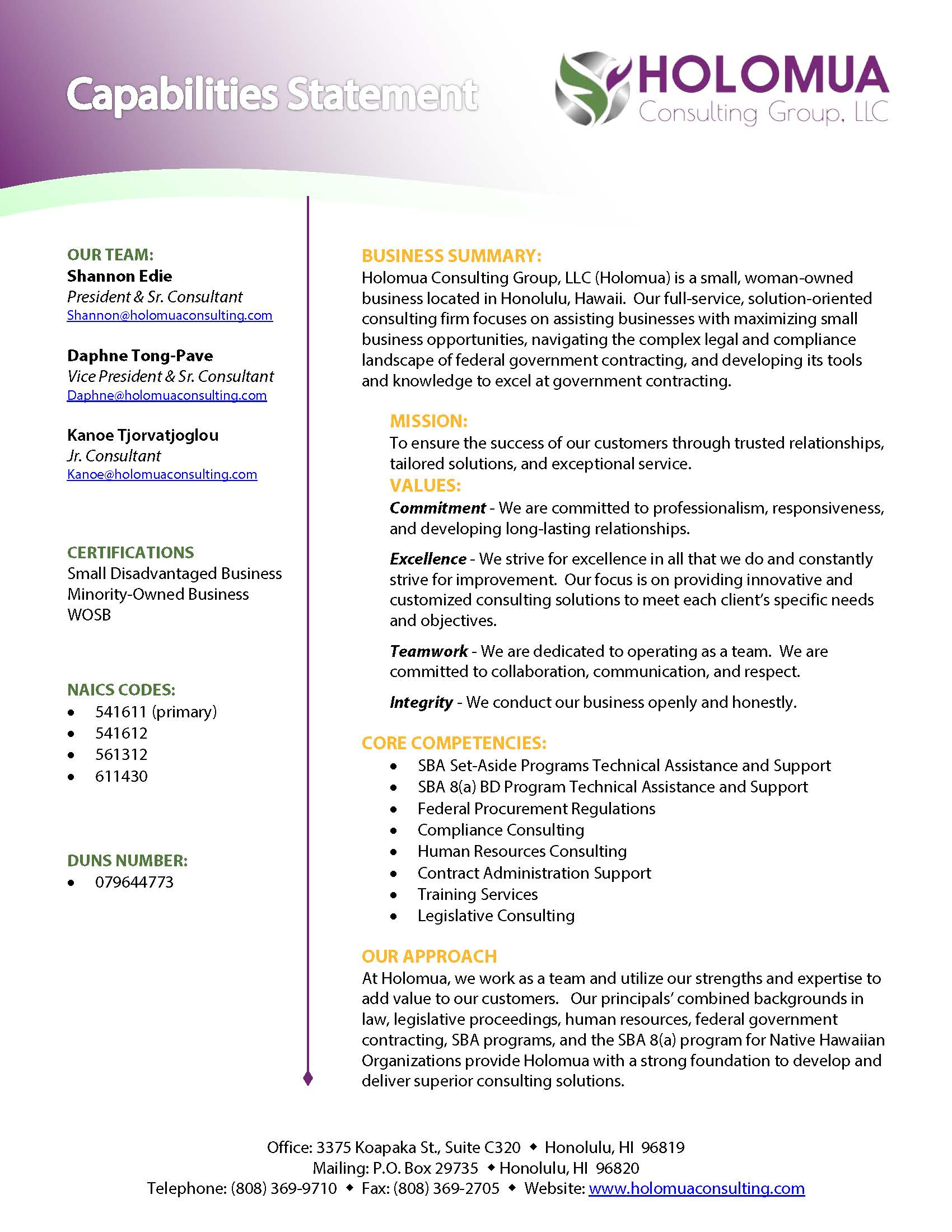 capabilities_statement_rev_06.27 One Page Resume Format With Company on for cardiology, experienced professional, sample for experienced person, template ms word for sales, templates that are free,